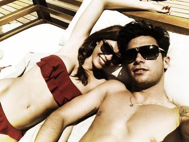 La pareja, de vacaciones en Ibiza