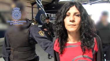 La etarra Leire López Zurutuza.   Policía