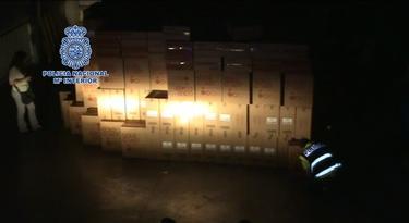 Imagen del almacén |Policía Nacional