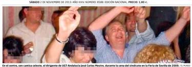 Fotografía publicada en la portada del diario El Mundo de este sábado 2 de noviembre de 2013 | Imagen: Portada de El Mundo