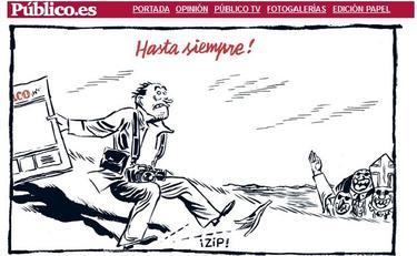 Caricatura publicada este sábado por la página web del diario 'Público' | Público