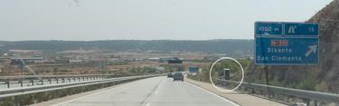 Un radar ubicado en un tramo cuesta abajo de la A3 | LD