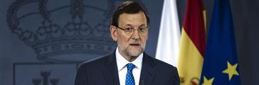 Rajoy, en su comparecencia del pasado lunes   EFE