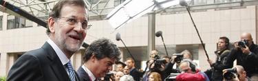 Rajoy a su entrada al Consejo Europeo | EFE