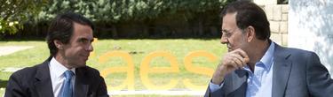 Aznar y Rajoy, hace un año, en el Campus FAES.