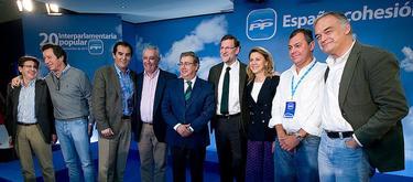 Rajoy, con Nieto y Sanz además de parte de la cúpula   Tarek