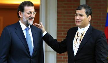Rajoy recibe a Rafael Correa en La Moncloa | EFE