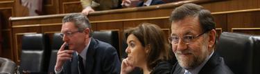 El presidente en su escaño, en primer término | D. Crespo