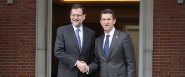 Rajoy y Feijóo posan para los medios | Moncloa
