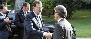 El último encuentro de Rajoy y Mas, hace unos días en Barcelona.