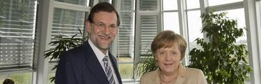 Rajoy, con Merkel | Archivo