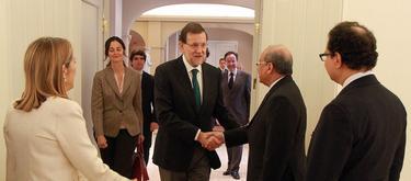 Rajoy, este viernes, en la Moncloa.