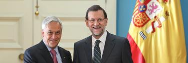 Rajoy y el presidente de Chile, Sebastián Piñera | Diego Crespo