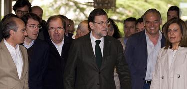 Mariano Rajoy, este sábado, en Salamanca, junto a Juan Vicente Herrera. | Tarek/PP