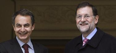 Zapatero y Rajoy, en una foto de archivo