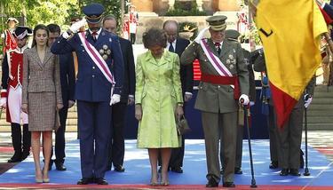 Los Reyes y los Príncipes, en el acto de las Fuerzas Armadas | EFE