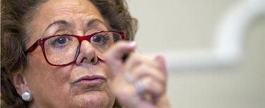 Rita Barberá explicaba este viernes el proyecto de presupuestos para Valencia   EFE