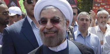 Hasan Rohaní, durante una manifestación | Efe
