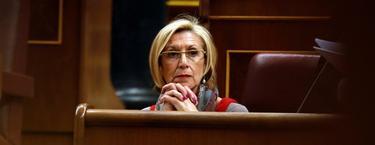 Rosa Díez durante una sesión plenaria en el Congreso de los Diputados   Archivo/EFE