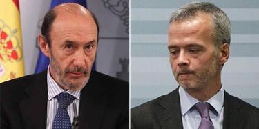 Alfredo Pérez Rubalcaba y Antonio Camacho. | Archivo