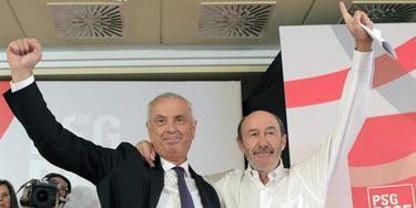 Rubalcaba junto a Pachi Vázquez | EFE