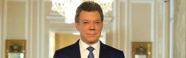 Santos, durante la comparecencia | Presidencia de Colombia