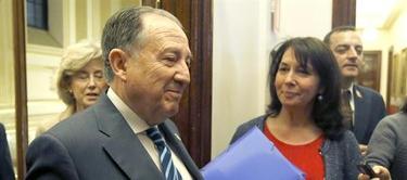 Sanz Roldán, a su llegada al Congreso | EFE