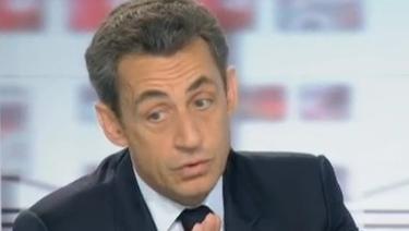 Sakozy, durante su entrevista en France 2