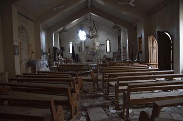 Iglesia destrozada en Siria   Cordon Press