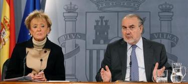 Solbes, tras un Consejo de Ministros en el año 2009 |Archivo
