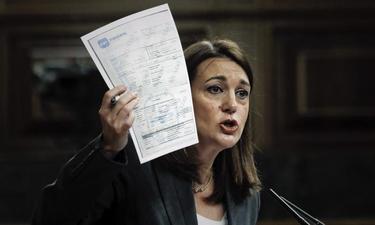 Soraya Rodríguez durante su intervención en la sesión de control al Gobierno | EFE