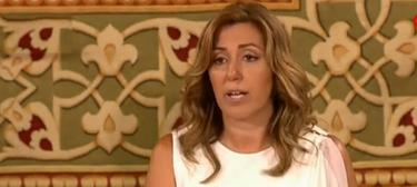 Susana Díaz, durante su toma de posesión   Imagen TV