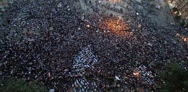 Vista aérea de la plaza de Tahrir | Efe