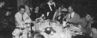 Cena en el Círculo Mercantil de San Sebastián, el 19 de enero de 1995, cuatro días antes del asesinato de Gregorio Ordóñez | Archivo FGO