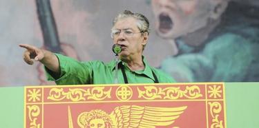 Umberto Bossi, durante un acto político en Venecia. | EFE