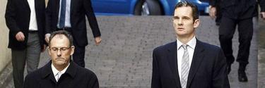 Mario Pacual Vives e Iñaki Urdangarín acuden a declarar a los juzgados de Palma.   Archivo