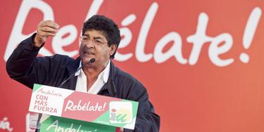 Diego Valderas, líder de IU en Andalucía. |Efe