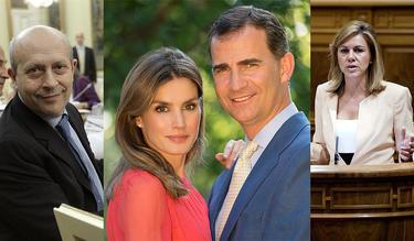 El ministro, los príncipes y la presidenta de Castilla-La Mancha