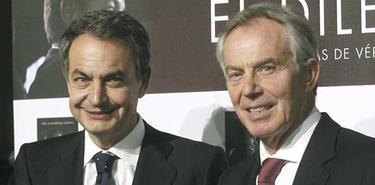 Zapatero junto a Blair | EFE