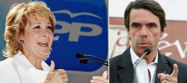 Esperanza Aguirre y José María Aznar | EFE