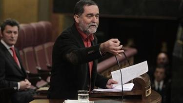 Iñaki Antigüedad, portavoz de Amaiur en el debate de investidura.