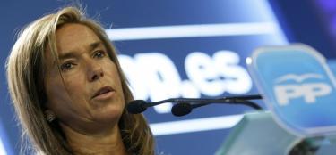 Ana Mato, directora de campaña del PP, en una imagen de archivo | EFE