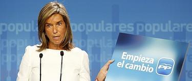 Ana Mato, en la rueda de prensa | Diego Crespo/PP