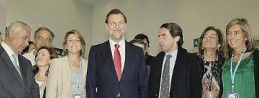 Aznar, con Botella y la cúpula del PP | PP/ Tarek