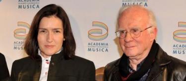 González Sinde y Teddy Bautista. | Archivo