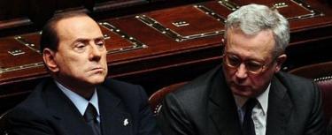 Giuglio Tremonti con Berlusconi