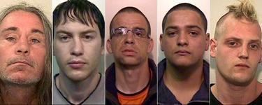 Algunos de los cabecillas detenidos por la Policía británica.