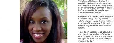 La imagen de la camarera publicada en el medio.