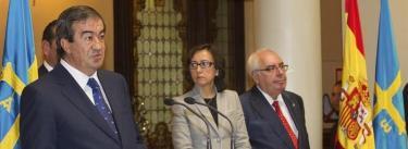 Álvarez Cascos en su discurso de toma de posesión   EFE