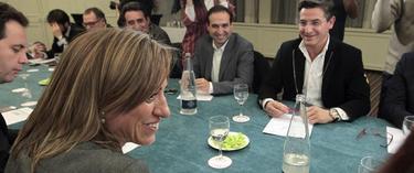 Chacón, en un momento de la reunión | EFE